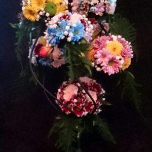 цветы, букет, цветочное деревов