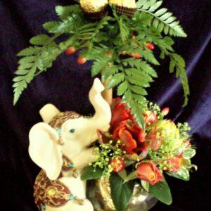 цветы, букет, детский букет, слон