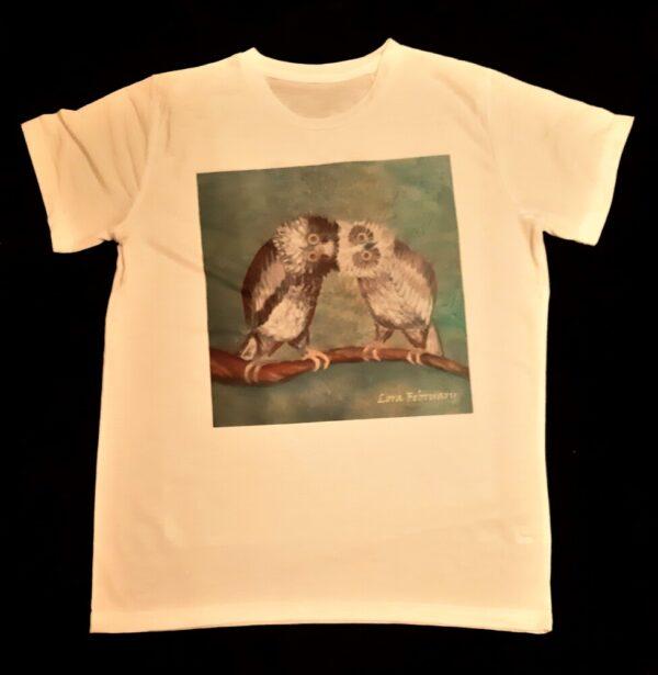 футболка унисекс. футболка с принтом, совы