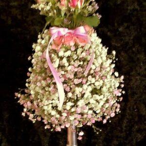 цветы, букет, мини-манекен, цветочное платье