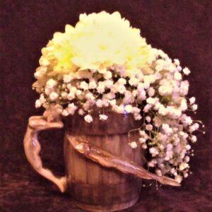 цветы, букет, букет мужчине, пивная кружка