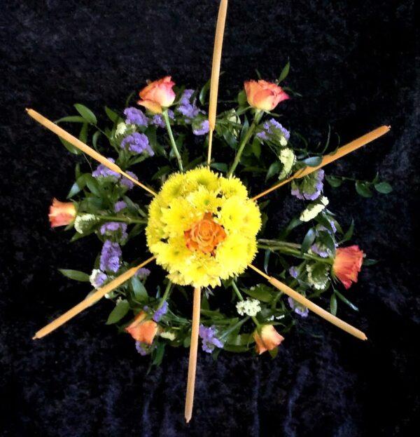 цветы, букет, штурвал