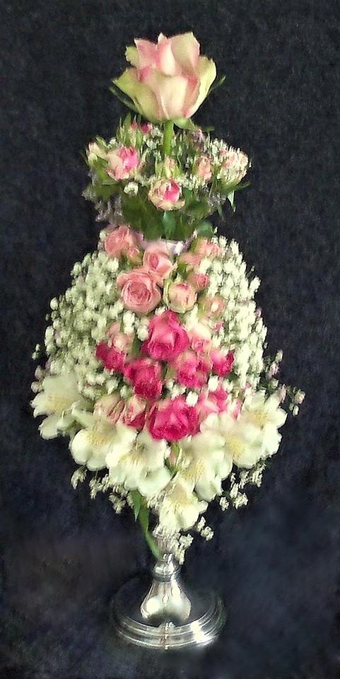 цветы, букет, цветочное платье, мини-манекен