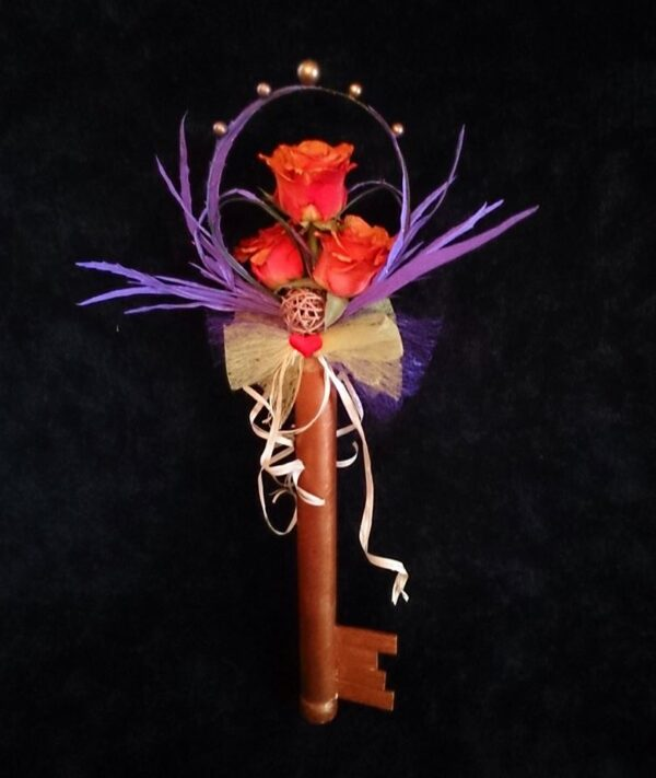 цветы, букет, золотой ключик