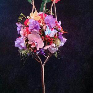 цветы, букет, цветочное дерево