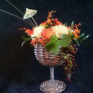 цветы, букет, букет в бокале