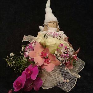 цветы, букет, ангел