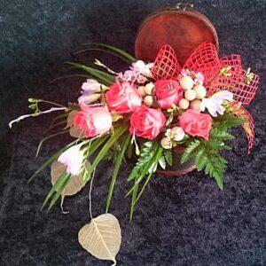 цветы, букет, сундучок с цветами