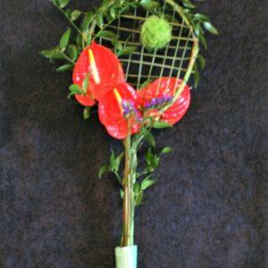 цветы, букет, ракетка