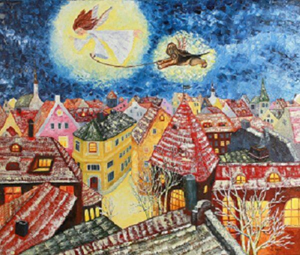 картина, ангел, живопись, Таллин