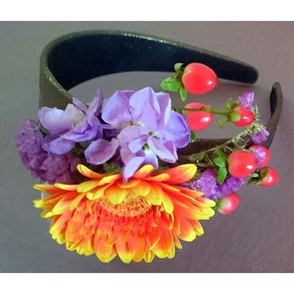 ободок для волос с цветами