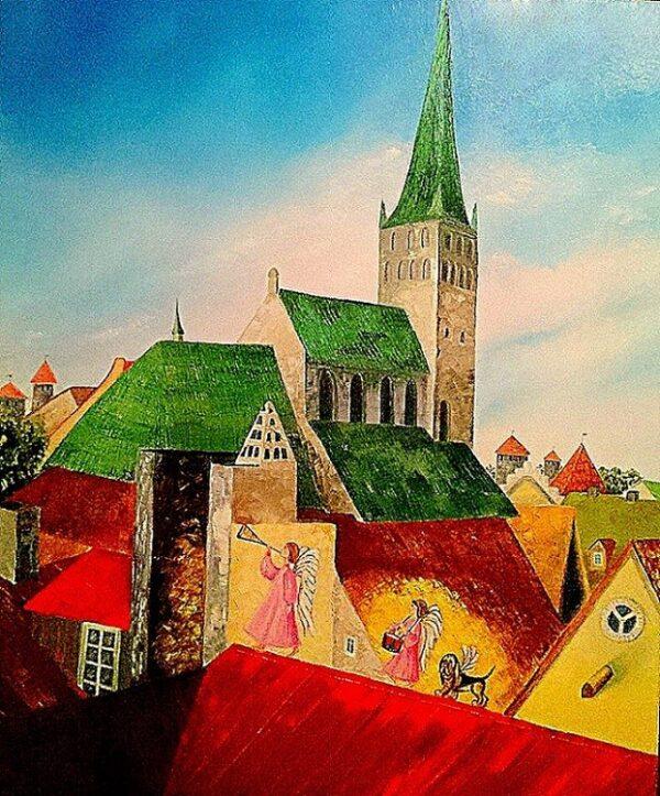 картина, живопись, ангелы, Таллин
