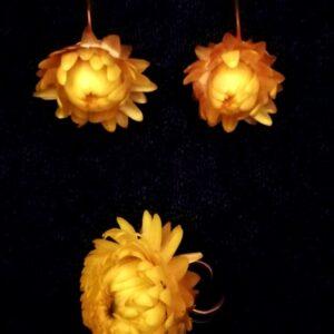 серьги с цветами, кольцо-цветок