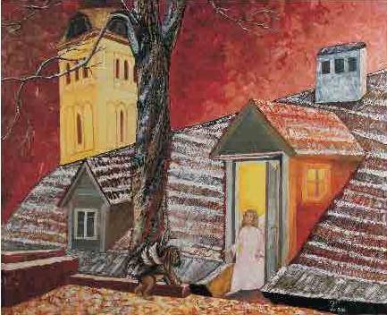картина, живопись, Таллин, ангел