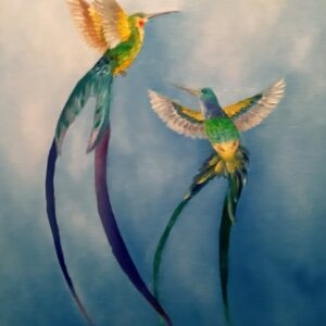 картина колибри