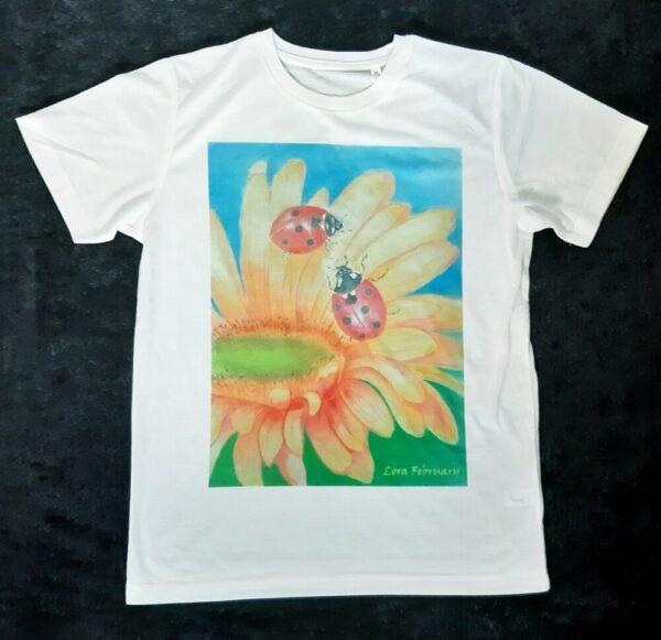 футболка, футболка с принтом, божьи коровки